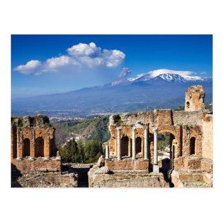 Sizilien - griechisches Theater von Taormina Postkarte