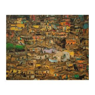 Sizilien, Italien Holzdruck