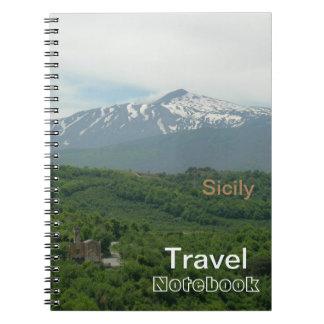 Sizilien-Reise-Bestimmungsort-Notizbuch Spiral Notizblock