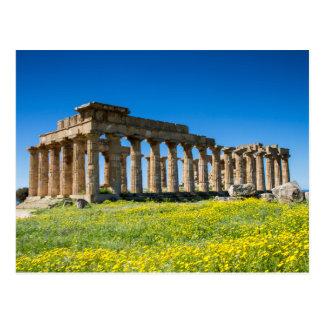 Sizilien - Tempel von Hera an Selinunte Postkarte