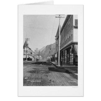 Skagway Alaska Broadway 1918 Karte