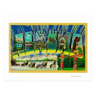Skagway, Alaska - große Buchstabe-Szenen Postkarte