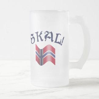 Skal trinkender Toast norwegische Mattglas Bierglas