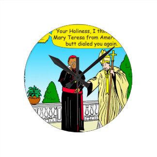 Skala mit 908 Hintern (Anruf) der Papst-Cartoon Runde Wanduhr