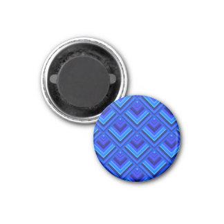 Skalamuster der blauen Streifen Runder Magnet 3,2 Cm