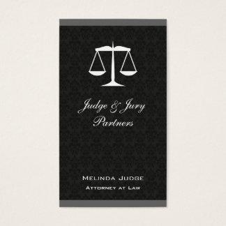 Skalen des Gerechtigkeits-Damast-FarbBar Visitenkarte