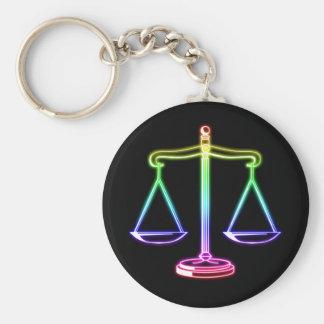 Skalen des Gesetzes der Gerechtigkeits-  Standard Runder Schlüsselanhänger