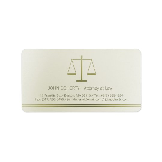 Skalen des Rechtsanwalts der Gerechtigkeits-| Adress Aufkleber
