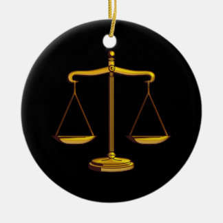 Skalen Gesetzesder geschenke der Gerechtigkeits-| Keramik Ornament