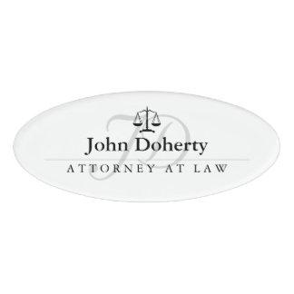 Skalen von Gerechtigkeit | elegant Namenschild