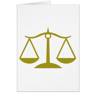 Skalen von Gerechtigkeit - Gold Karte