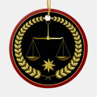 Skalen von Gerechtigkeit Keramik Ornament