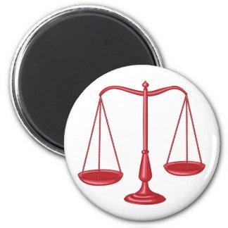 Skalen von Gerechtigkeit Runder Magnet 5,1 Cm