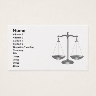 Skalen von Gerechtigkeit Visitenkarte