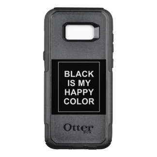 SKAM - BLACK IS MY HAPPY COLOR OtterBox COMMUTER SAMSUNG GALAXY S8+ HÜLLE
