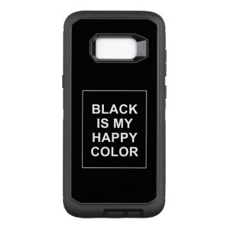 SKAM - BLACK IS MY HAPPY COLOR OtterBox DEFENDER SAMSUNG GALAXY S8+ HÜLLE