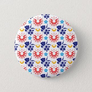 Skandinavier Ditsy Runder Button 5,7 Cm