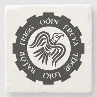 Skandinavier-Raben-Fahne Steinuntersetzer