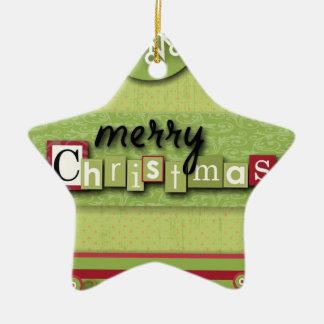 Skandinavier Westsern Land-Primitiv-Weihnachten Keramik Ornament