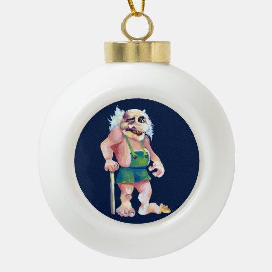 Skandinavische lustige schauende keramik Kugel-Ornament