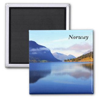Skandinavische Schönheit, Norwegen Quadratischer Magnet