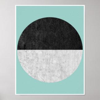 Skandinavischer, geometrischer Plakatdruck im