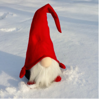 Skandinavischer WeihnachtsGnome Fotoskulptur Ornament