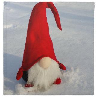 Skandinavischer WeihnachtsGnome Stoffserviette