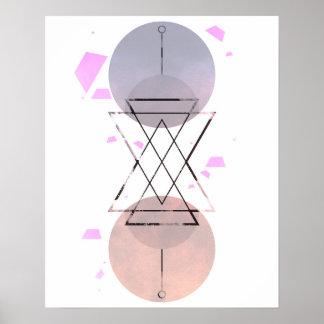 Skandinavisches abstraktes poster