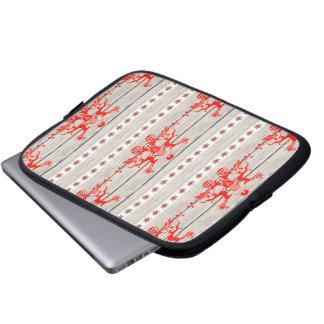 skandinavisches Weihnachtsschneeflocken Nordic-Ren Laptopschutzhülle