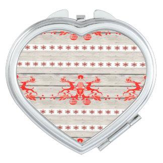 skandinavisches Weihnachtsschneeflocken Nordic-Ren Schminkspiegel