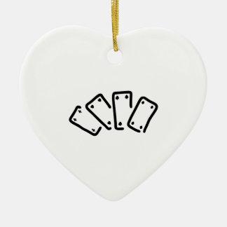 skat kartenspiel pik as keramik Herz-Ornament