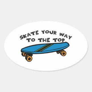 Skate Ihre Weise Ovaler Aufkleber
