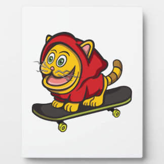 Skate-Katze Fotoplatte