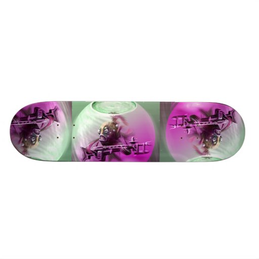 Skate mit einem starken Typ… Individuelles Skateboard