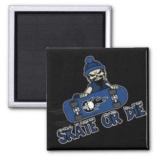 Skate oder die Magneten Quadratischer Magnet