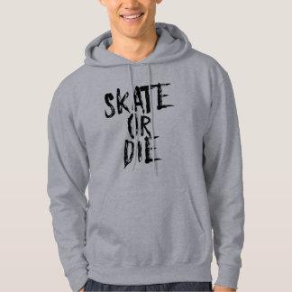 Skate oder die, Rollen-Derby-Entwurf Hoodie