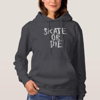 Skate oder die, Rollen-Derby-Mädchenentwurf Hoodie