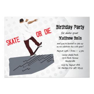 Skate oder sterben Skateboard-Geburtstags-Party