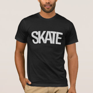 SKATE T-Stück Schwarzes T-Shirt