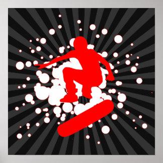 Skateboard: Blasen: Posterdrucke