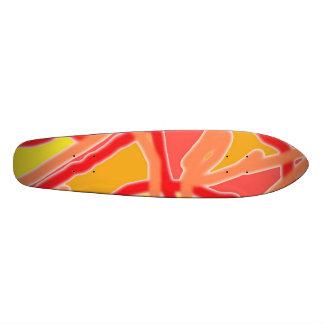 Skateboard-Chaos in Entwurf A der Form-2 Individuelle Skateboards