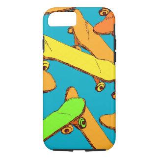 Skateboard-coole Mustervektoren iPhone 8/7 Hülle
