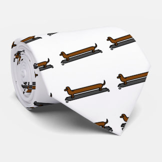 Skateboard-Dackel-HundeKrawatte Personalisierte Krawatten
