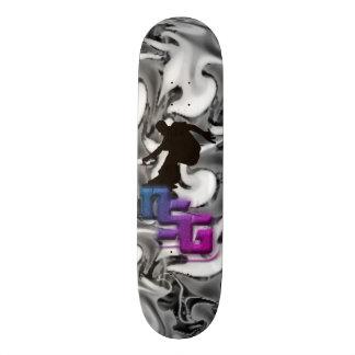 Skateboard Deck nsg Schwarz/Weiß