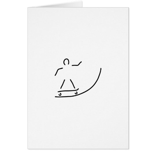 skateboard fahrer halfpipe karte