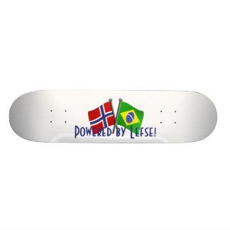 Skateboard mit Brasilien- und 18,4 Cm Mini Skateboard Deck