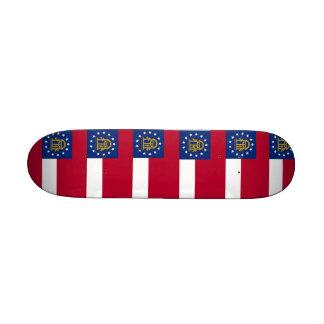 Skateboard mit Flagge von Georgia Personalisiertes Skatedeck