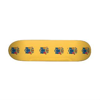 Skateboard mit Flagge von New-Jersey Individuelle Decks
