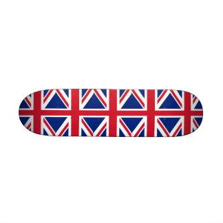 Skateboard mit Flagge von Vereinigtem Königreich Individuelles Deck